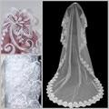 2017 New Fashion Cheap White 3 meter Lace Wedding Veils Veu De Noiva Longo Com Renda Bridal Wedding Accessories Voile De Mariage