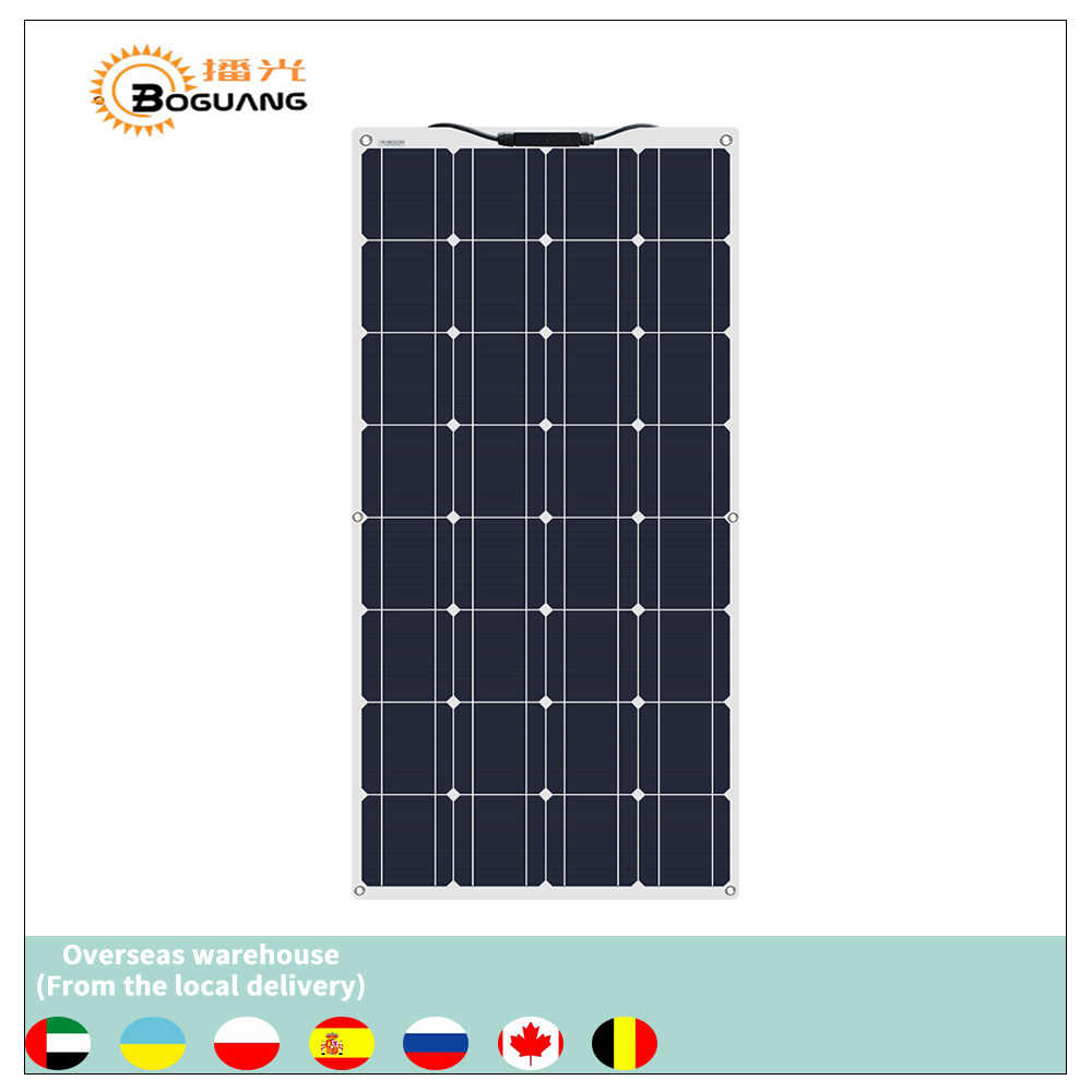 Boguang portable Solar Panel Flexible 16V 100W plate monocrystalline flexible efficiency PV 12V 100 watt china photovoltaique