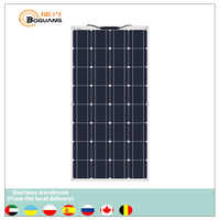 Boguang portable Solar Panel Flexible 16V 100W plate 100w 12v monocrystalline semi flexible efficiency PV 12V 100 watt china