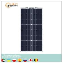 Boguang portable panneau solaire Flexible 16V 100W plaque monocristallin flexible efficacité PV 12V 100 watts chine photovoltaïque