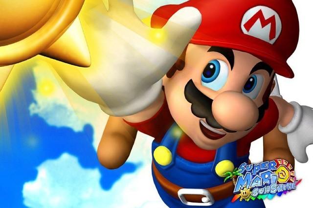 Diy Frame Cartoon Super Mario Sunshine Game Poster Fabric Silk