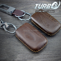 Car Styling Genuine Leather Keybag KeyCase (Brown Color) for Jaguar XE XF XFR XK XKR XJ F-TYPE S-TYPE E-TYPE