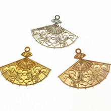 10 PCS 26*35mm Metal Copper KC Gold Silver Gold Filigree Wra