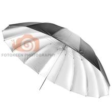 Новые 75 дюймов очень большой отражающий зонт 16 fibre ребра параболических черный/серебристый Светоотражающие зонтик Бесплатная доставка