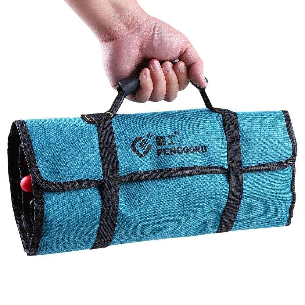 Tool Bag Electrician Organizer Wearable Waterproof Repairing Carrying Handle Screwdriver Bag + Tool Belt For Woodworking Tools