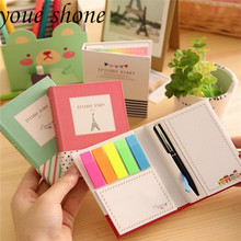 1pcs New  Cute Hard Shell Notepad Memo Pads Multifunctional Combination Sticky Notes Notebook Stationery Office Supplies 1pcs random a6 96 sheets printed daily memo notepad creative hard copybook notebook greative office school tool supplies gift