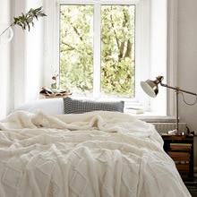 暖かい厚手のニット毛布二重層シェルパフリース毛布ベッドソファニットマンタスロー毛布ベッドカバードロップ無料