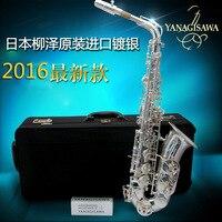 Newest Yanagisawa Japan Alto Saxophone Eb Sax W037 Silver Plated Brass Instruments Music Professional Saxofone Alto