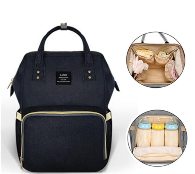 LAND Large Capacity Diaper Bag Mommy Maternity Baby Nappy Bag Nursing Bag Multifunctional Backpack Baby Care For New Parent