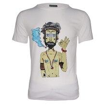 Мужская рубашка мужская Leisure O Neck с коротким рукавом футболки шорты комплект печати хлопок черн