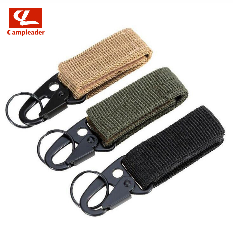 Nylon Webbing Outdoor Tactical Mmilitary Fans Belt Buckle Hanging Multifunction Carabiner Hook Olecranon CL174