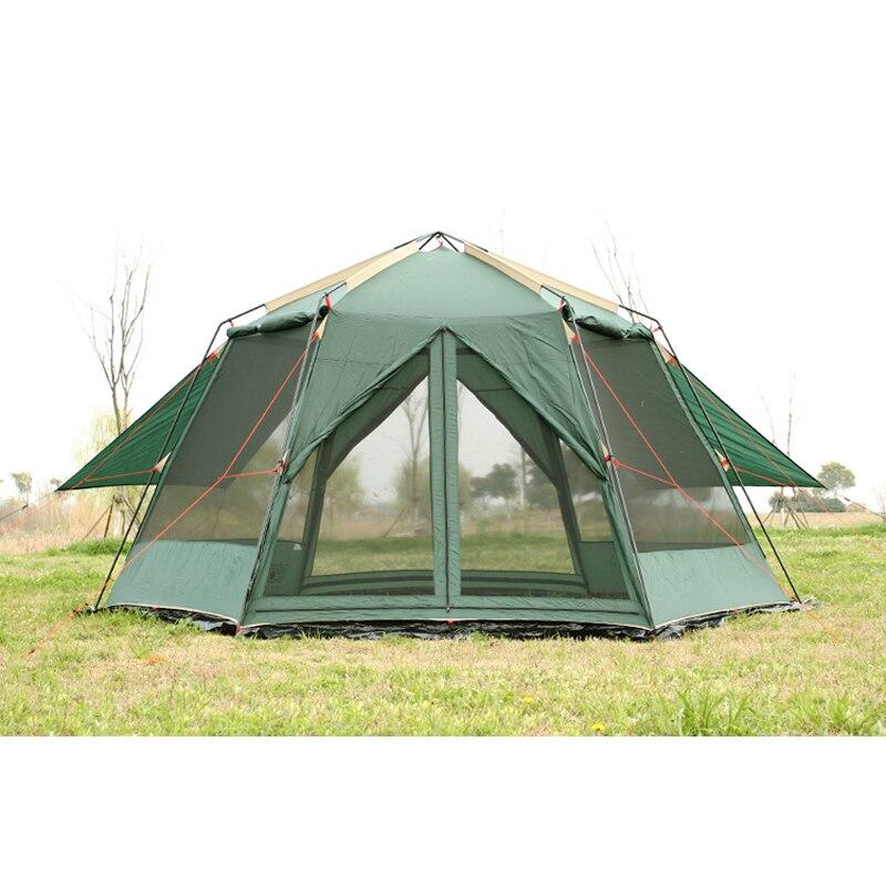 € 181.08 26% de réduction|Véritable UV hexagonale plage extérieure double  couche ombre tente hexagonale hardcore tente de pêche grand espace jardin  ...