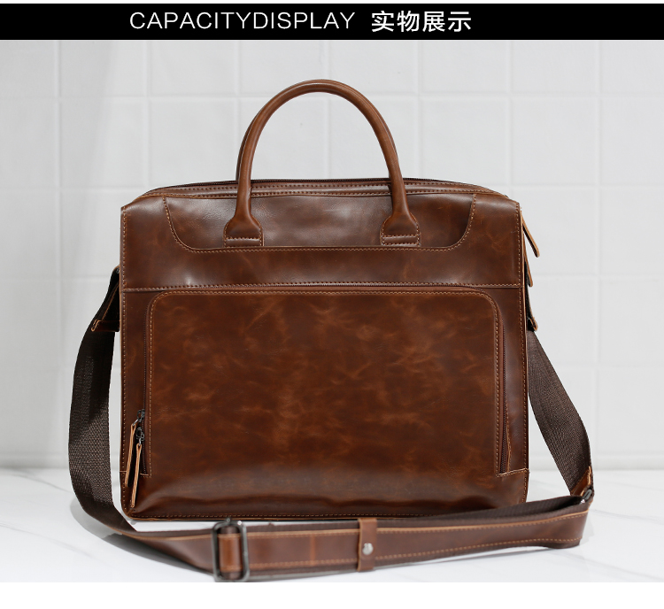 HTB1kHvZkqmgSKJjSsplq6yICpXad Brand Men's Briefcase Handbag Crazy Horse Pu Leather Messenger Travel Bag Business Men Tote Bags Man Casual Crossbody Briefcases