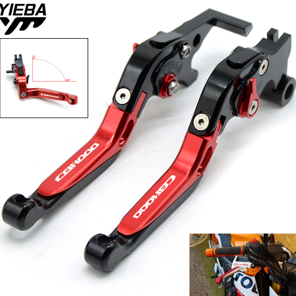 Motorcycle Adjustable Folding Brake Clutch Levers For <font><b>HONDA</b></font> <font><b>CBF1000</b></font> CBF 1000 2006 2007 2008 2009 <font><b>CBF1000</b></font>/A 2010 2011 2012 2013 image