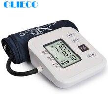 OLIECO Automatico Digitale Superiore Del Braccio di Pressione Sanguigna Monitor BP Tester del Calibro di Pressione Del Polsino Sfigmomanometro Tonometro Salute E Bellezza