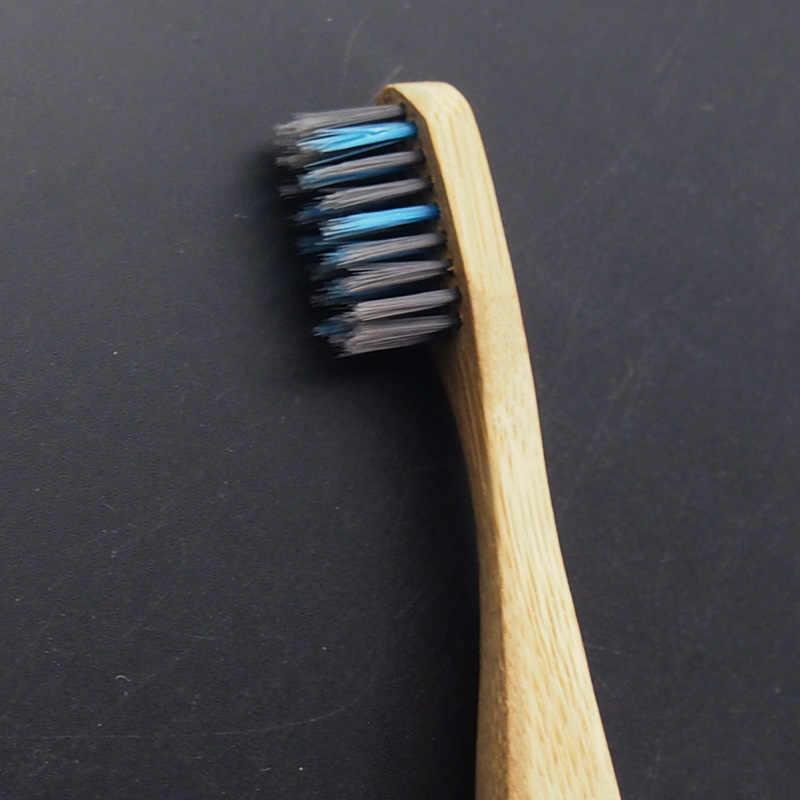 DR. PERFECT 1 unid/caja cepillo de dientes de carbón de bambú fibra Natural Ultra suave cepillo de bambú con carbón Limpieza de dientes de Nylon libre de BPA