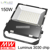 LED overstroming licht 150 w LED flood verlichting Meanwell driver SMD LED schijnwerper fedex gratis verzending-in Schijnwerpers van Licht & verlichting op