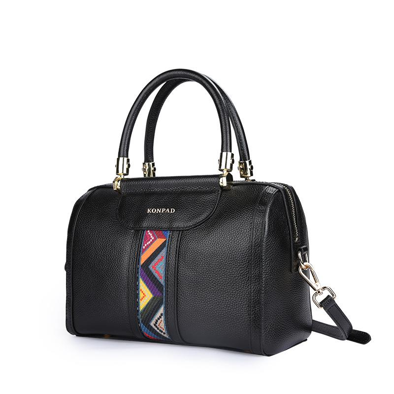 2018 The New Genuine Leather Boston handbag Large capacity headcoat leather Totes pillow case Messenger bag, female shoulder bag