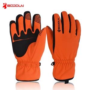 Image 4 - BOODUN Men Women Ski Gloves Winter Thermal Fleece Warm Breathable Snowboard Sports Windproof Waterproof Snow Skiing Gloves