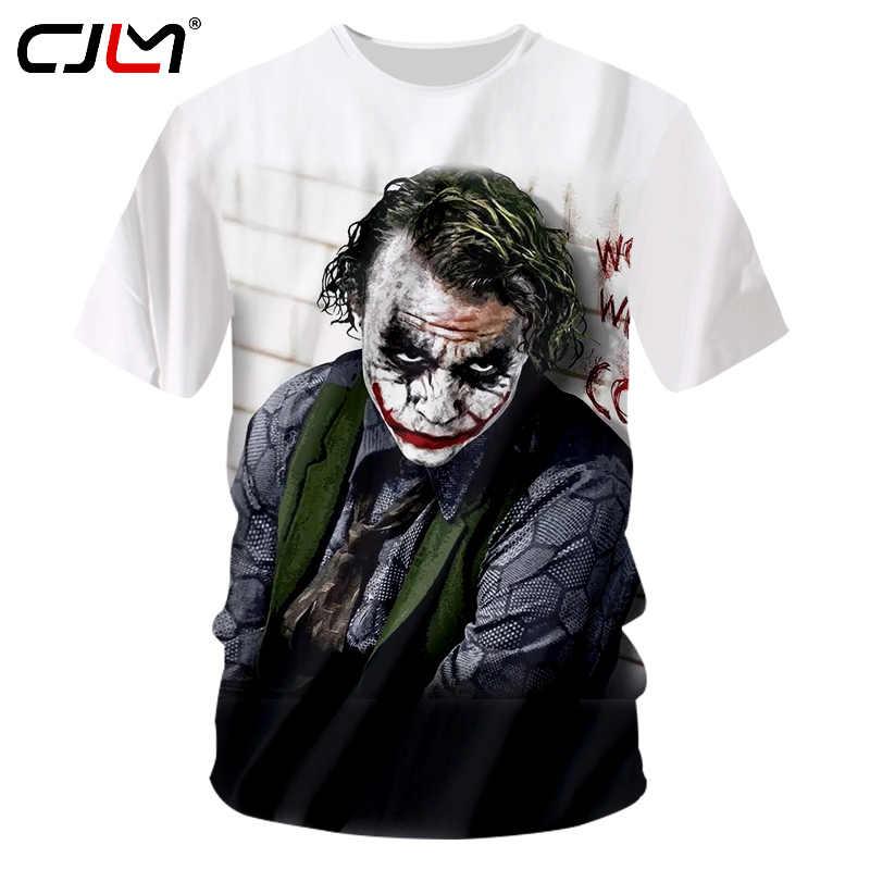 CJLM новый летний 3D футболка принт самоубийц Джокер Для мужчин Футболка компрессионная футболки с коротким рукавом человек бренд Фитнес Футболки 7XL