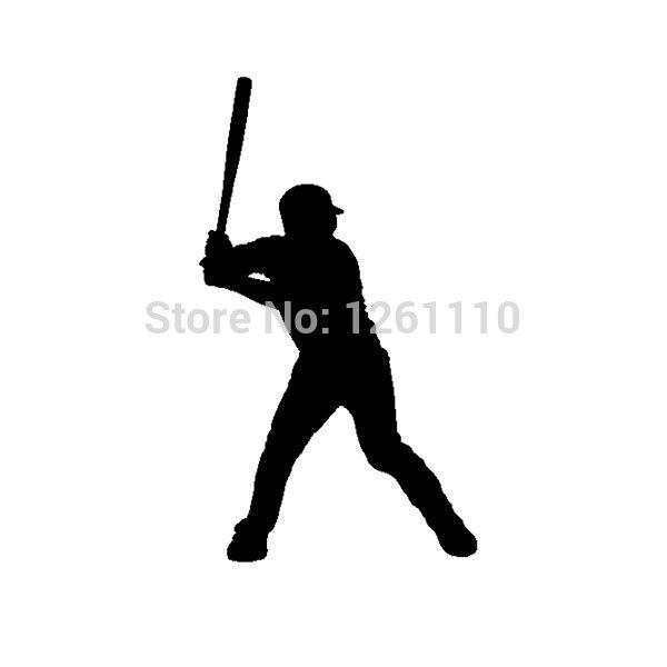 Baseball Player Vinyl Sticker Decal For Boat RV Car Quad