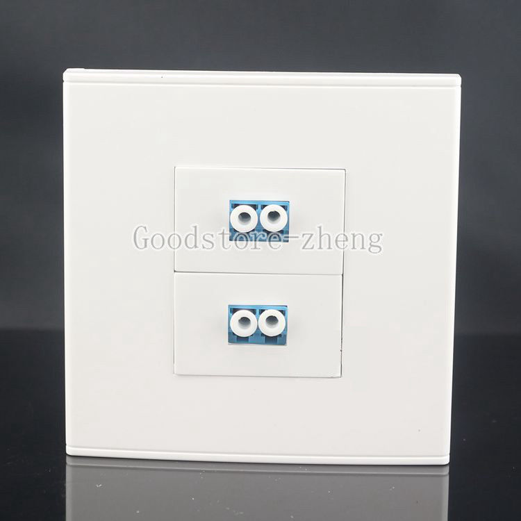 Wall Face Plate Dual Fiber Optical LC Cable Connector Coupler Socket Faceplate aua 05 embedded sc head optical fiber cable connector