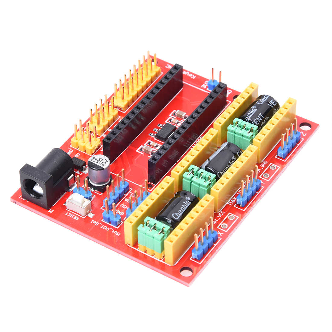 1 x Red CCL CNC V4 engraving machine expansion board For GRBL