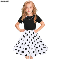 European and American Fashion Girls Cotton Dress Summer Girl Party Princess Dress Pleated Polka Dot Kids Dresses for Girls 5 12Y