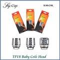 Original smok tfv8 bobinas bebé v8-q2 v8-x4 v8-t6 v8-t8 bobina cabeza Para TFV8 Bebé Bestia Tanque Atomizador Cabeza Bobina de Recambio 5 unids