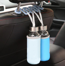hot deal buy new 2pcs universal car back seat headrest holder hook for bag purse grocery storage automobile interior accessories hot sale