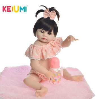 KEIUMI Lovely Baby Reborn Girl Doll Full Silicone Body Lifelike Bonecas Newborn Princess Babies Bebe Bathe Toy Birthday Present - DISCOUNT ITEM  29 OFF Toys & Hobbies