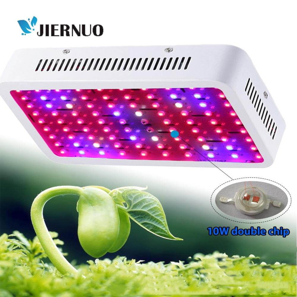 JIERNUO LED planta crece la luz de espectro completo 600 W 2000 W 1200 W 3000 W doble Chips tienda flor luz de hortalizas de invernadero