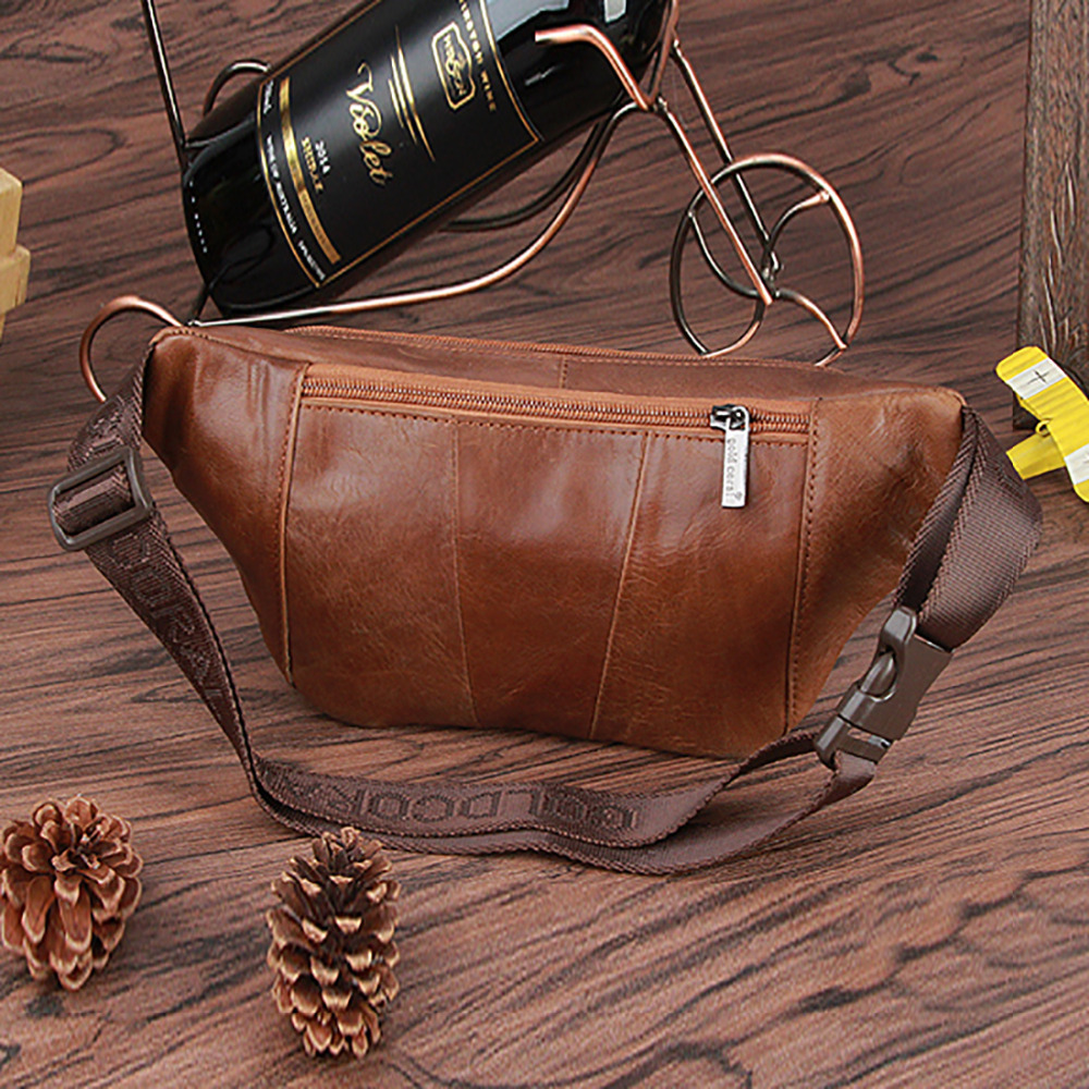 Retro Oil Wax Leather Skin Leather Pockets Pockets Riding Mountaineering Package Bag Boss Bag Color : Coffee, Size : S