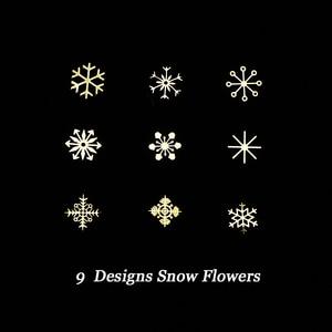 Image 3 - 1 pièces or neige flocons ongles paillettes étincelles métallique fleurs hiver 3D paillettes Paillette décor accessoires manucure outils BE889