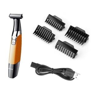 Image 4 - Kemei mens electric shaver body face electric razor for men stubble trimmer beard shaving edge trimer head trimmer back