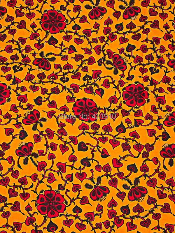 Buy ankara fabric online real wax print yellow red for for Fabric purchase