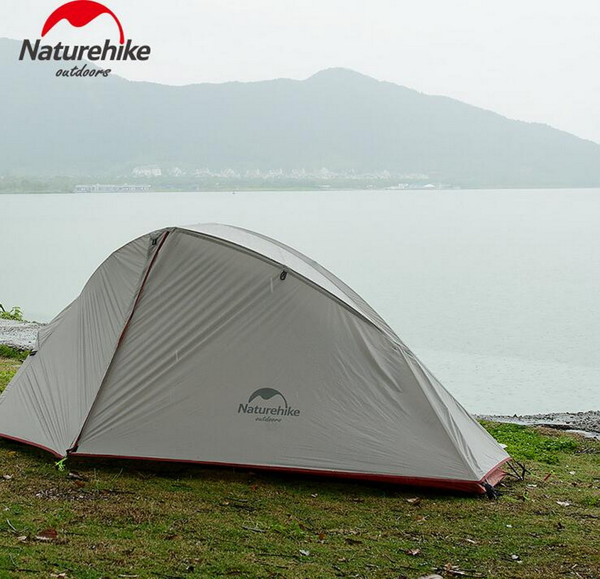 NaturehikeThree-season aluminum pole tents, outdoor single-double camping tent, double wind and rain tents. пена монтажная mastertex all season 750 pro всесезонная