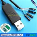 usb ttl serial cable debug cable console program cable raspberry pi ttl-232R-rpi