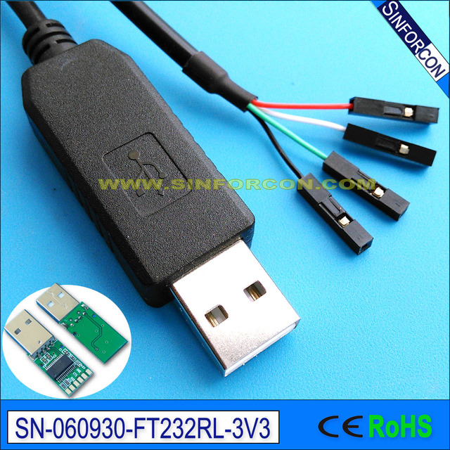 US $5 88 |usb ttl serial cable debug cable console program cable raspberry  pi ttl 232R rpi-in Computer Cables & Connectors from Computer & Office on