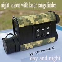 Высокое качество день и ночь лазерный дальномер начиная Ночное видение цифровой компас Ночное видение область ИК NV телескоп DH037