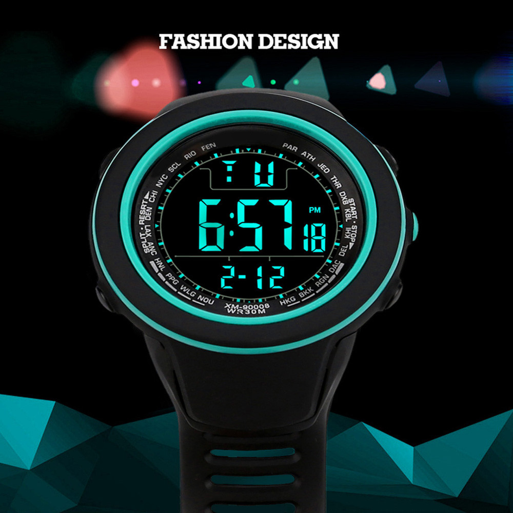 Luxury Men Analog Digital Military  Sport LED Waterproof Wrist Watch Electronic Watch Fashion Gif Men's Watch Outdoor Sport