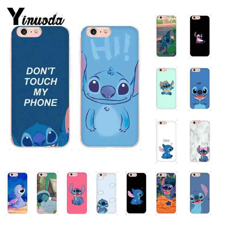 Yinuoda Cute Stich Cartoon Soft Silicone TPU Telefoon Cover voor iPhone X XSMAX 6 6s 7 7plus 8 8Plus 5 5S SE XR 10 11 11pro 11promax