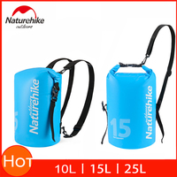 Naturehike Waterproof Dry Bag With Double Shoulder Straps Dry Wet Gear Separation For Kayaking Boating Rafting Swimming Camping