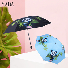 YADA Custom Charm Folding Princess Panda Umbrella Rain Women uv High Quality For Womens Brand Windproof Umbrellas YS342