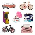 Эмалированная заколка в стиле ретро для машинки для игр, телефона, велосипеда, машины, швейной машинки, Классические винтажные ежедневные п...