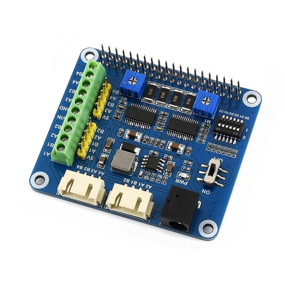 Waveshare Stepper Motor HAT For Raspberry Pi, Drives Two Stepper Motors, Up To 1/32 Microstepping.