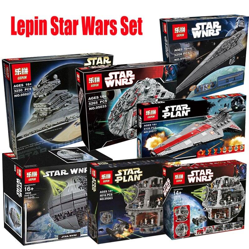 Lepin star wars 05026 05027 05028 05033 05035 05063 05077 Modèle blocs de construction Briques Jouets Compatible LegoINGlys 10143 75159