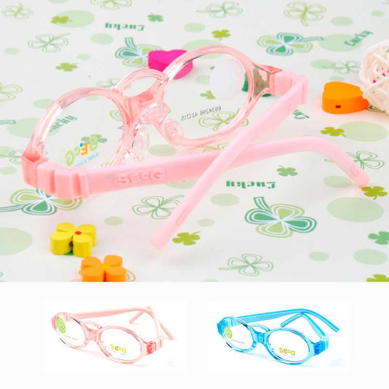 SECG Soft Flexible Kids Frame Toddler Baby Silicone Children Frame Sight Myopia Amblyopia Diopter Eyeglasses Oculos Gafas