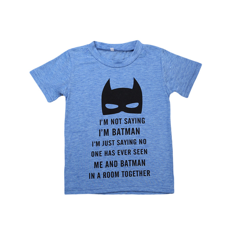 2017 Summer Children's clothing Baby boys T shirt batman ...