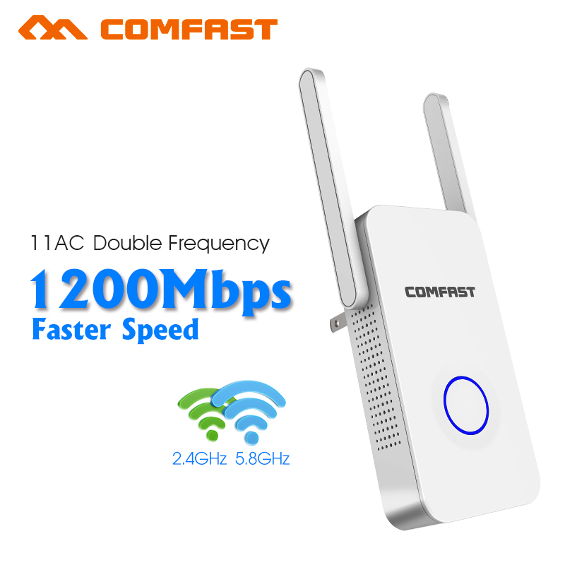 1200Mbps Wireless WIFI Repeater WiFi Extender dual band 5g wifi Amplifier 802.11ac repetidor WiFi Signal Booster wifi